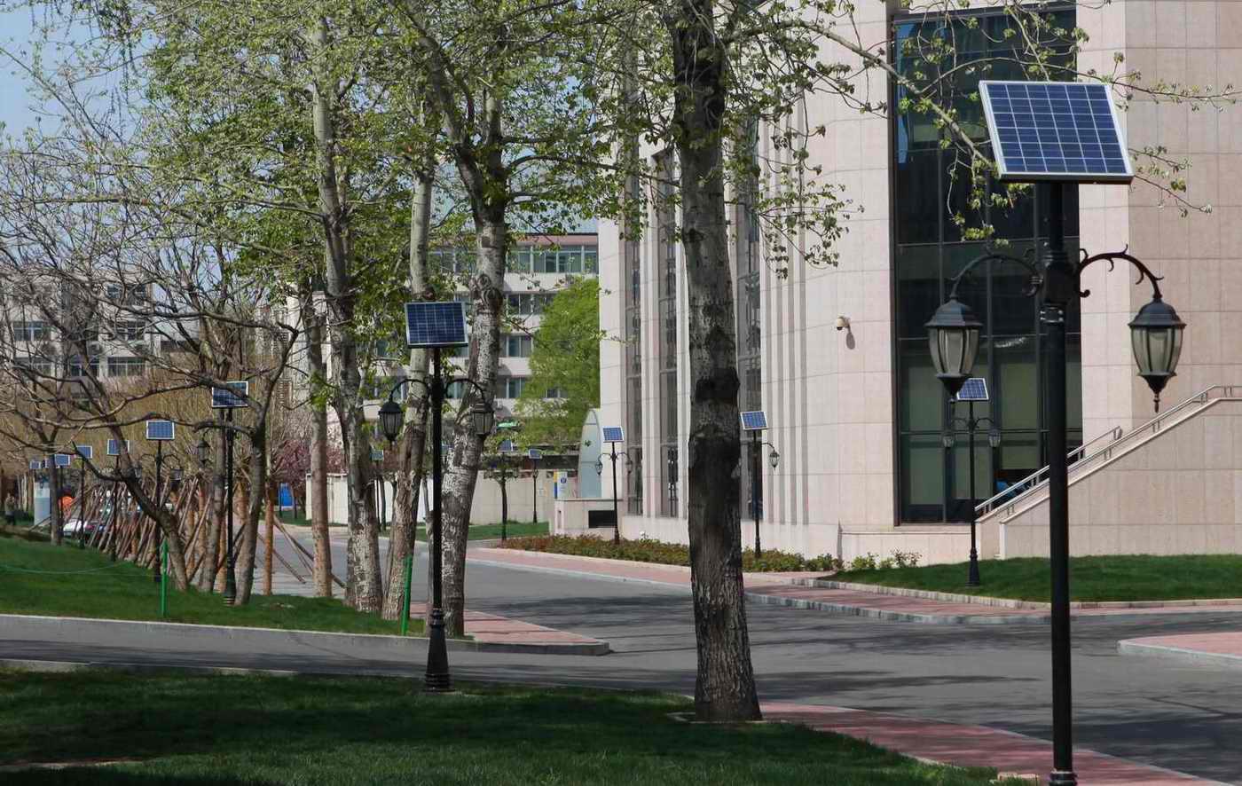 对外经贸大学太阳能庭院灯工程