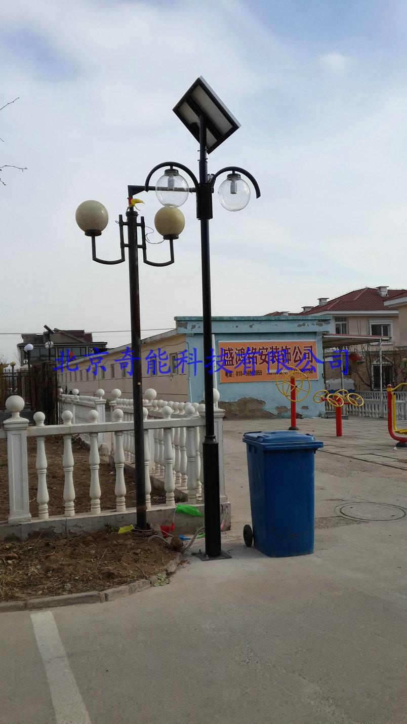北京昌平小汤山别墅区太阳能庭院灯亮化项目