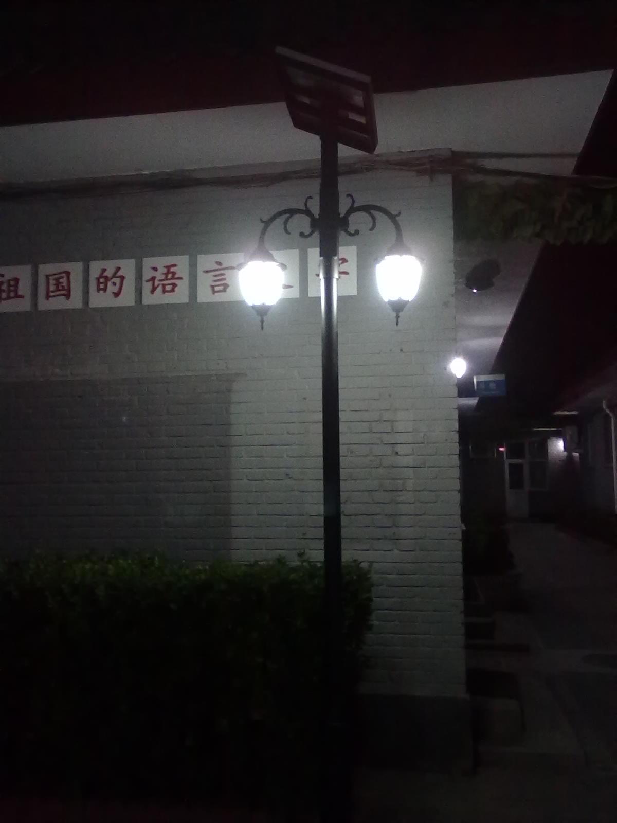 柳荫街小学太阳能庭院灯工程