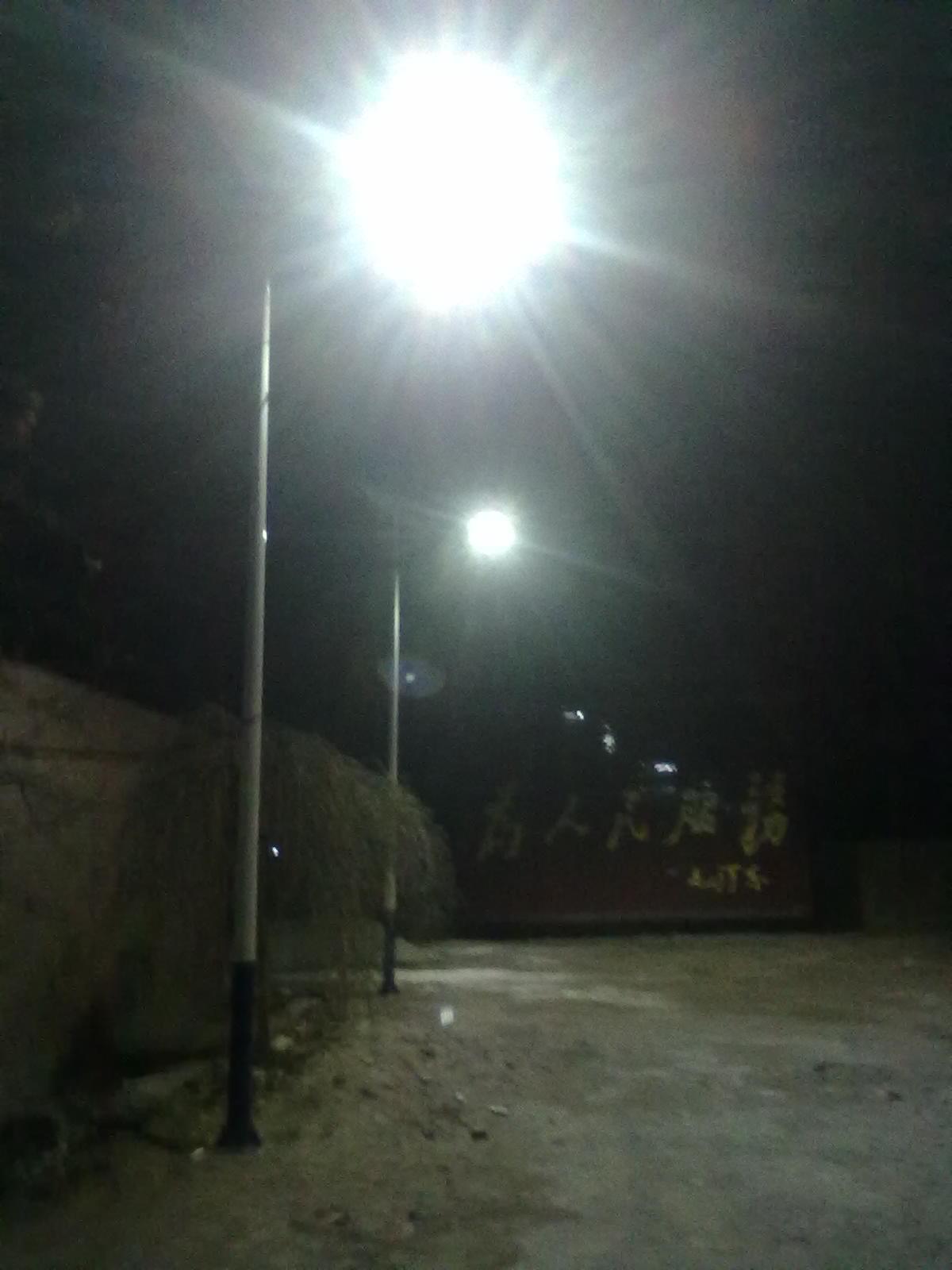 廊坊毛家营6米太阳能路灯工程