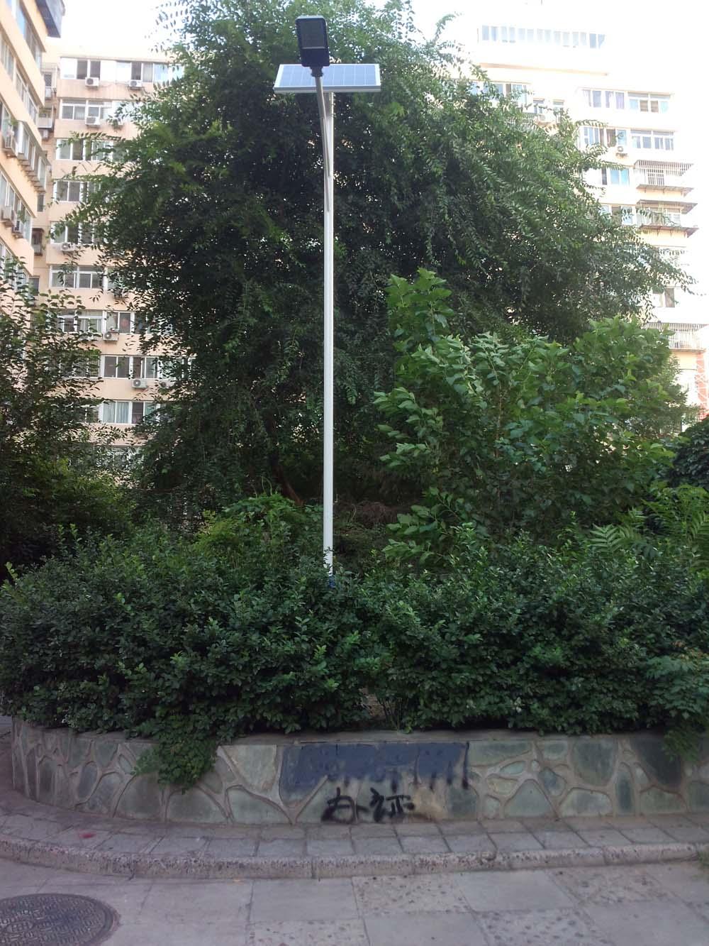 北京市东直门社区太阳能路灯工程