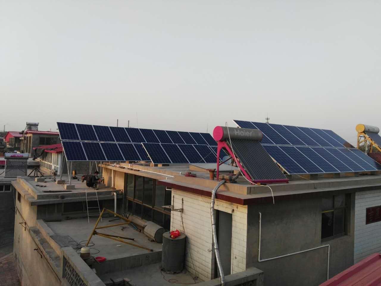 峰峰村10KW光伏发电系统