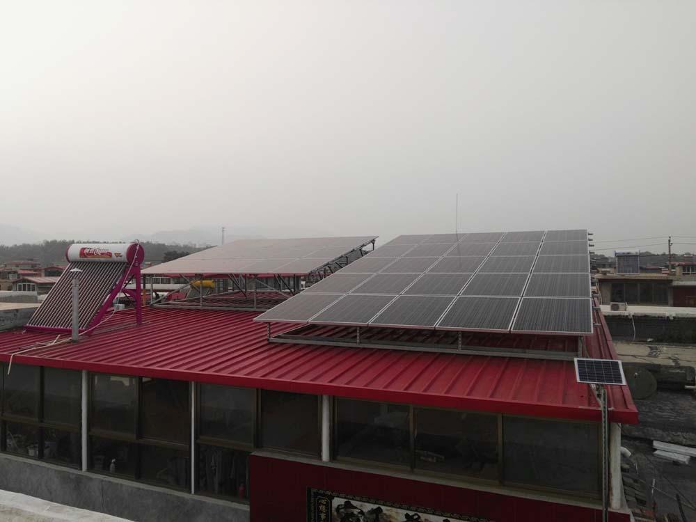峰峰村彩钢顶10KW光伏电站