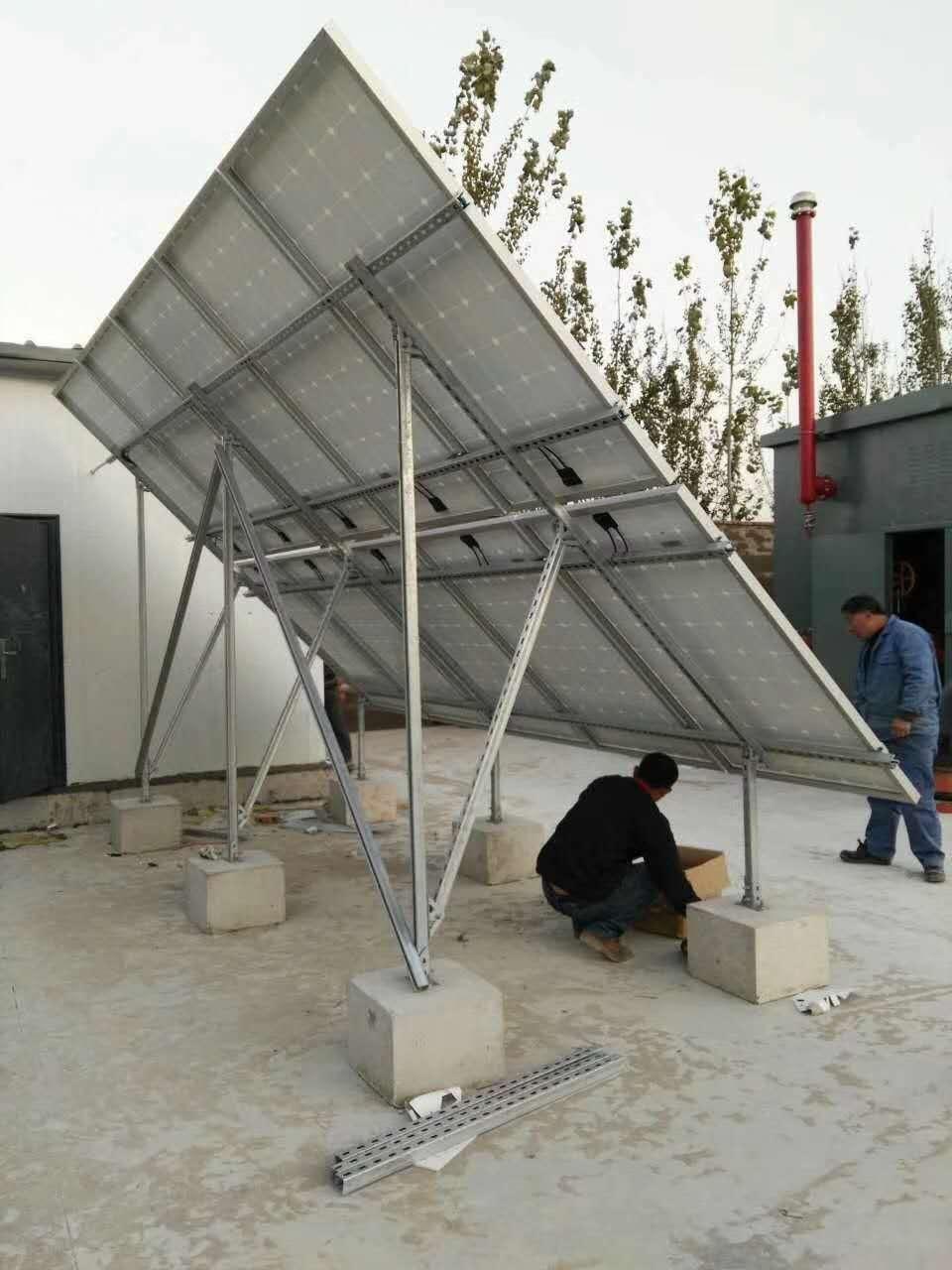 2.8KW燃气检测设备太阳能发电系统