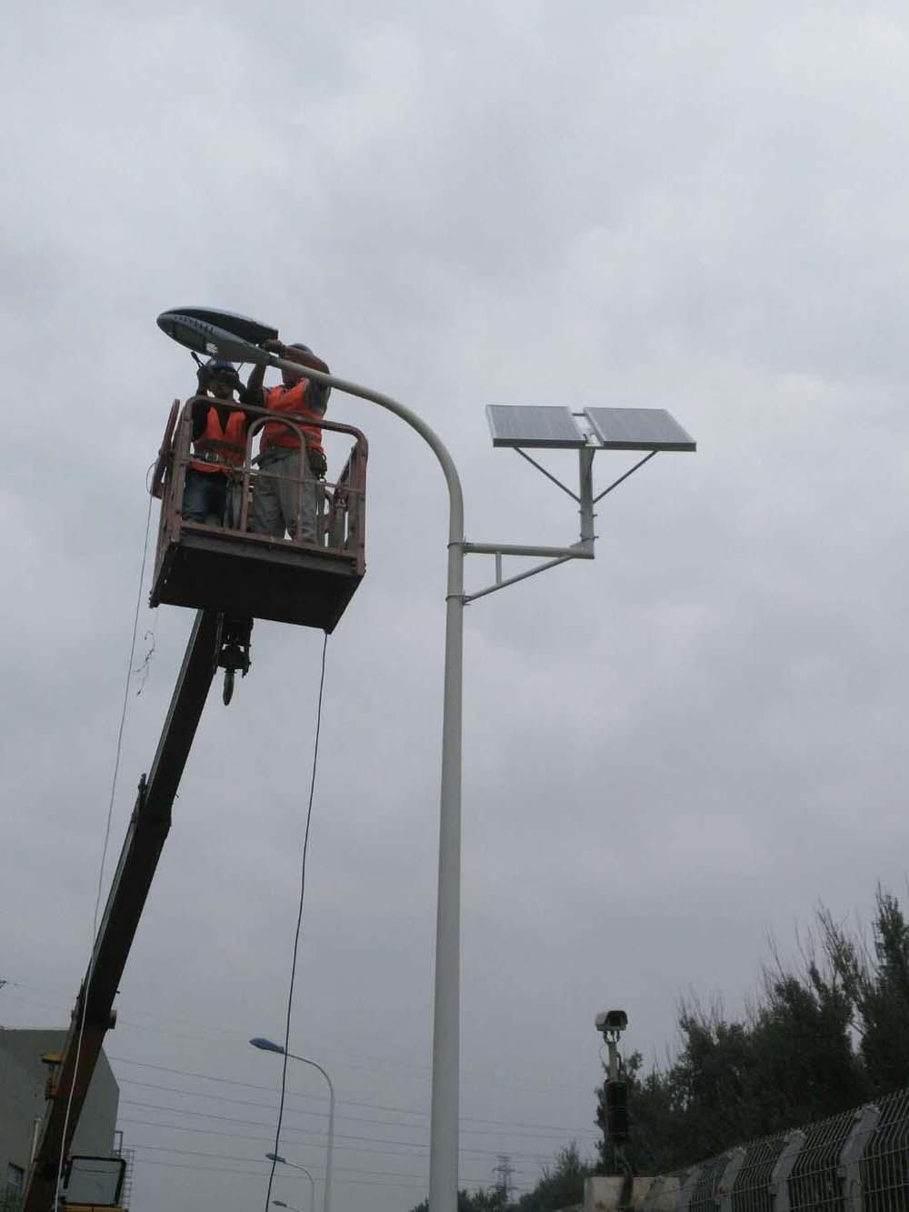 地铁车辆段路灯太阳能改造工程