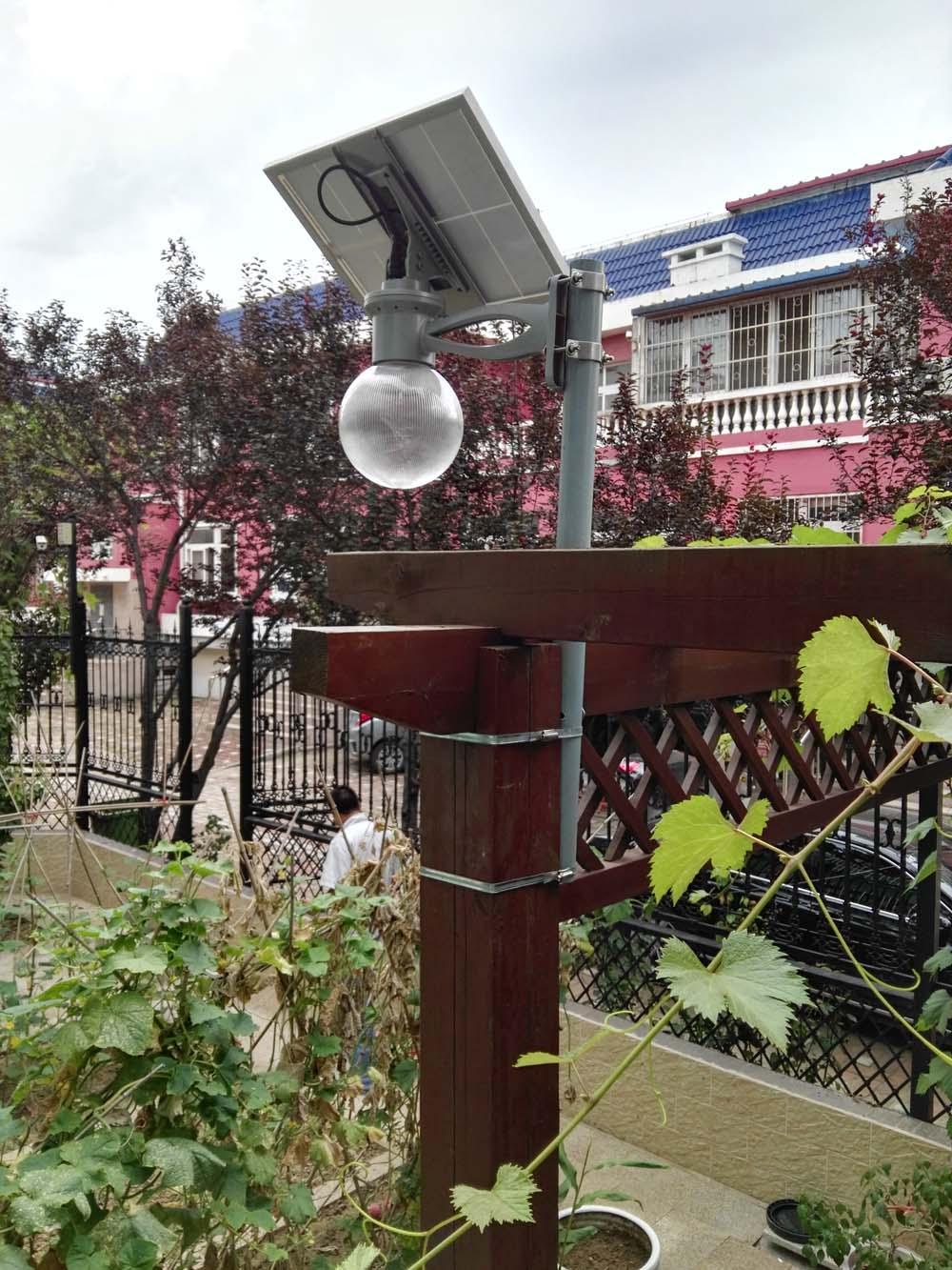 燕郊别墅太阳能苹果灯